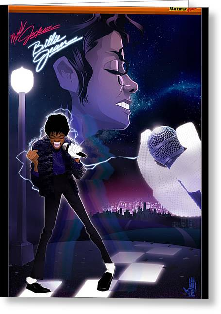 Billie Jean 2 Greeting Card by Nelson dedos Garcia