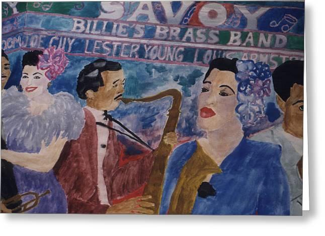 Billie's Brass Band Greeting Card