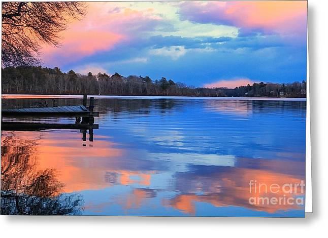 Billington Sea Sunset Greeting Card