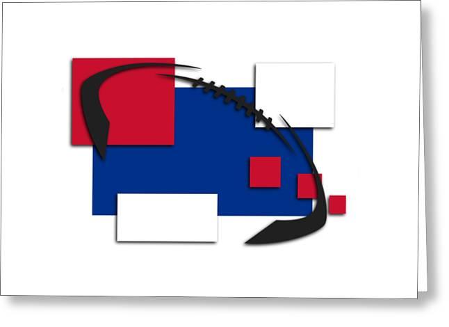 Bills Abstract Shirt Greeting Card by Joe Hamilton