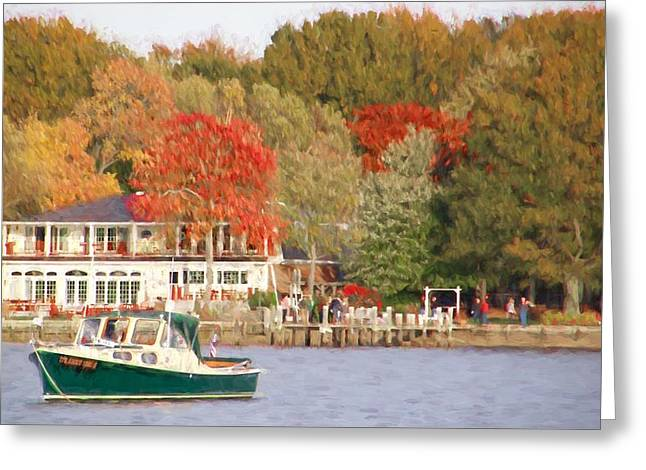 Bill's Green Downeaster Greeting Card by Alice Gipson