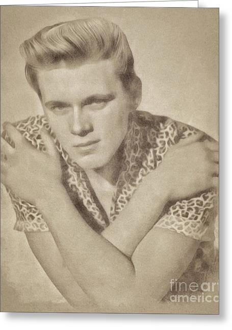 Billy Fury, Music Legend By John Springfield Greeting Card by John Springfield
