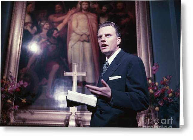 Billy Graham Jr. Greeting Card by The Harrington Collection