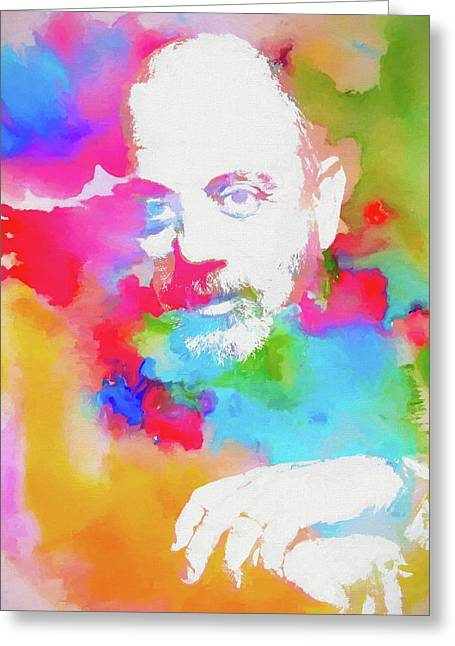Billy Joel Watercolor Greeting Card by Dan Sproul