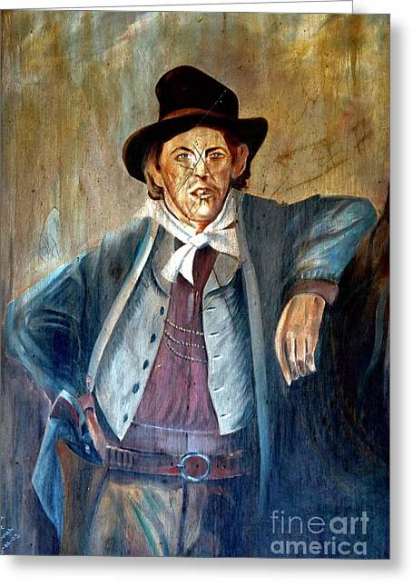 Billy The Kid Greeting Card by Bob Pardue