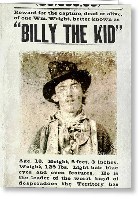 Billy The Kid Wanted Poster Greeting Card