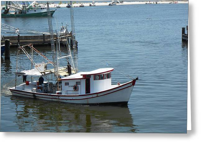 Bilouxi Shrimp Boat Greeting Card