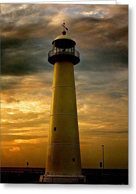 Pellegrin Greeting Cards - Biloxi Lighthouse Greeting Card by Scott Pellegrin
