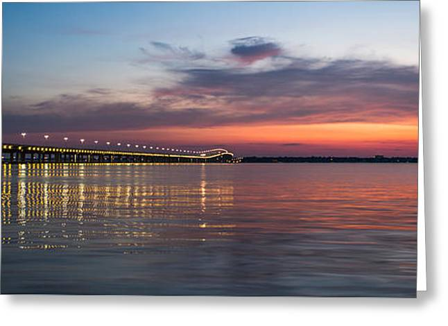 Biloxi/ocean Springs Bridge Greeting Card by Michael Touchet