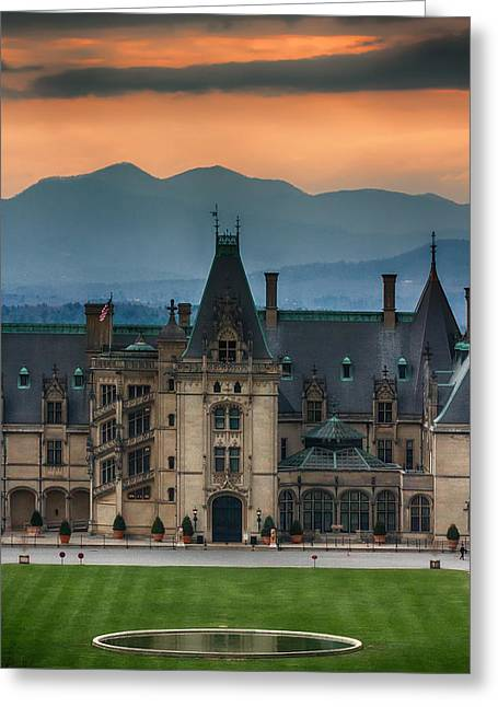Biltmore At Sunset Greeting Card by John Haldane