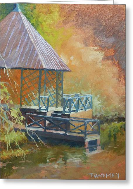 Biltmore Boat House Greeting Card by Catherine Twomey