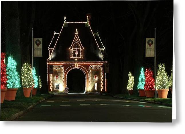 Biltmore Lights Up The Gate House Greeting Card