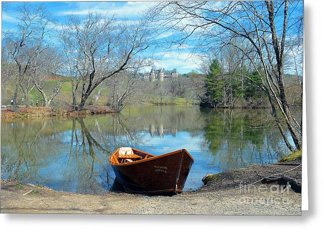 Biltmore Reflections Greeting Card by Li Newton