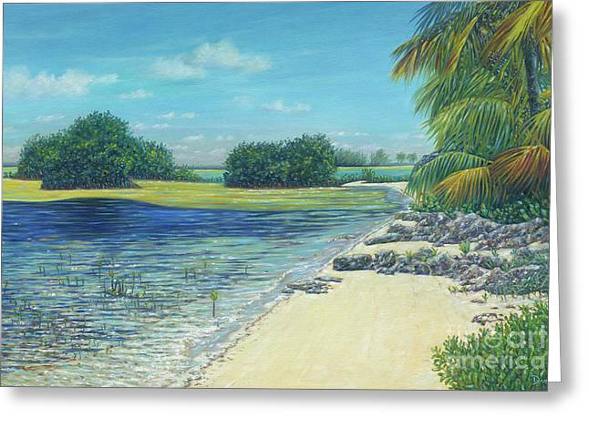 Bimini Mangroves Greeting Card by Danielle Perry