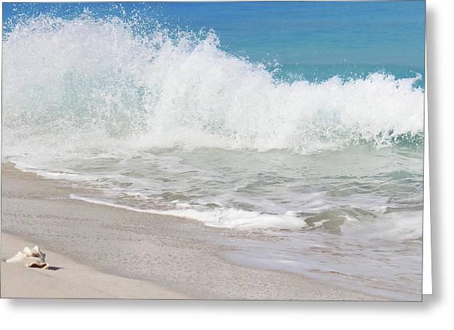 Bimini Wave Sequence 1 Greeting Card