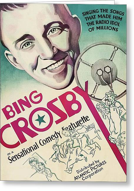 Bing Crosby 1939 Greeting Card by Mountain Dreams