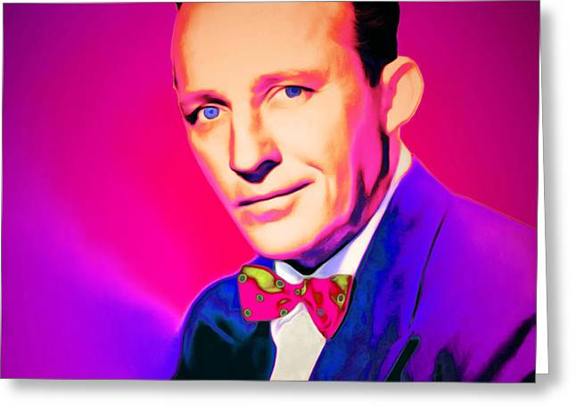 Bing Crosby 20151226 Square Greeting Card by Wingsdomain Art and Photography