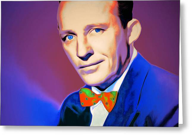 Bing Crosby 20151226 V2 Square Greeting Card by Wingsdomain Art and Photography
