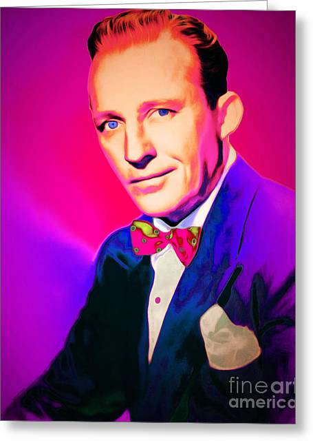 Bing Crosby 20151226 Greeting Card by Wingsdomain Art and Photography