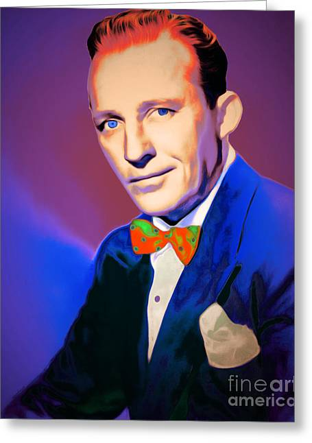 Bing Crosby 20151226v2 Greeting Card by Wingsdomain Art and Photography