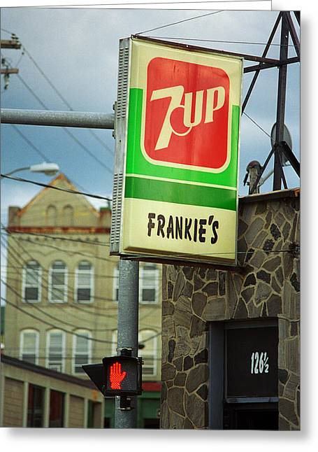 Canteen Greeting Card featuring the photograph Binghamton New York - Frankie's Tavern by Frank Romeo