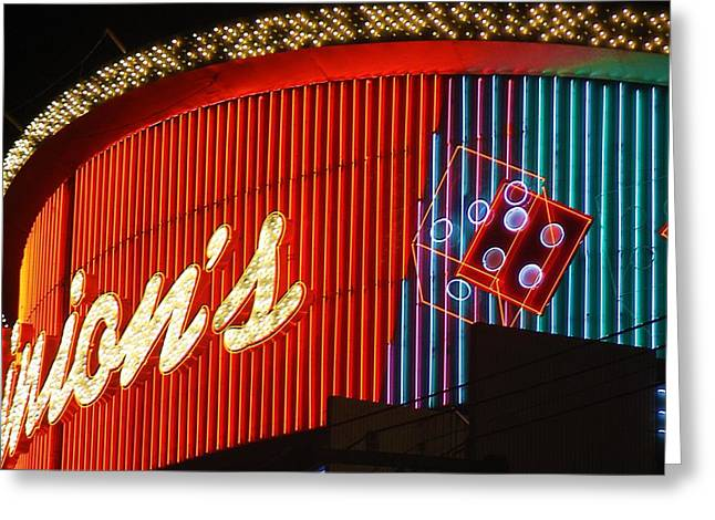 Binions Casino  Greeting Card by Bill Buth