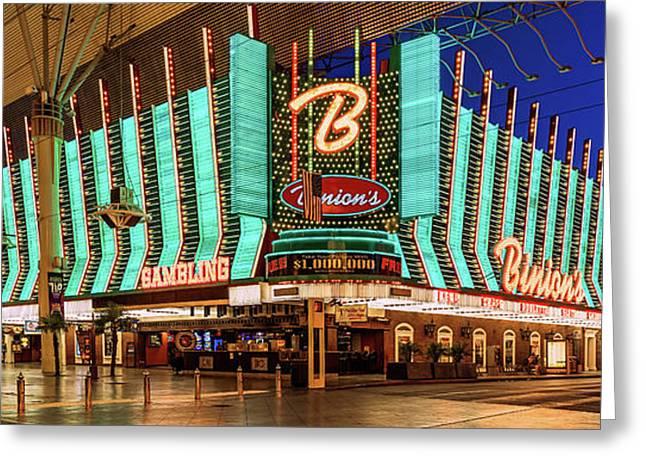 Binions Casino Entrance Greeting Card by Aloha Art