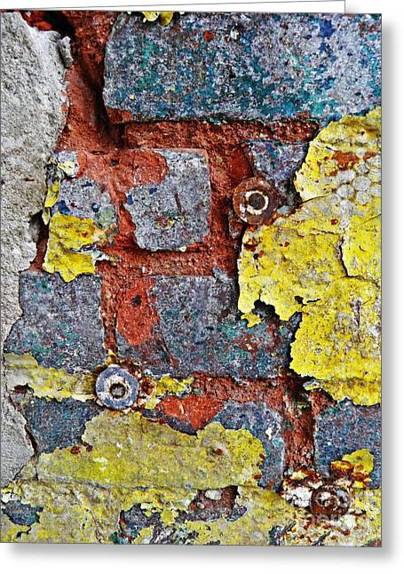 Biography Of A Wall 11 Greeting Card by Sarah Loft