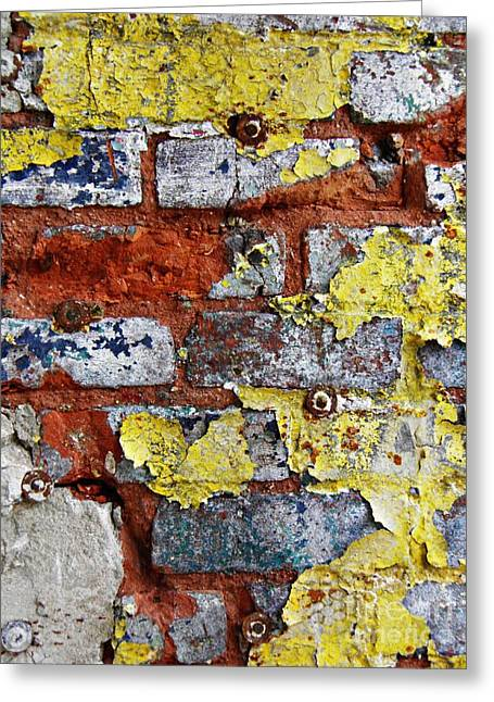 Biography Of A Wall 8 Greeting Card by Sarah Loft