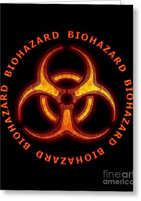 Biohazard Warning Greeting Card