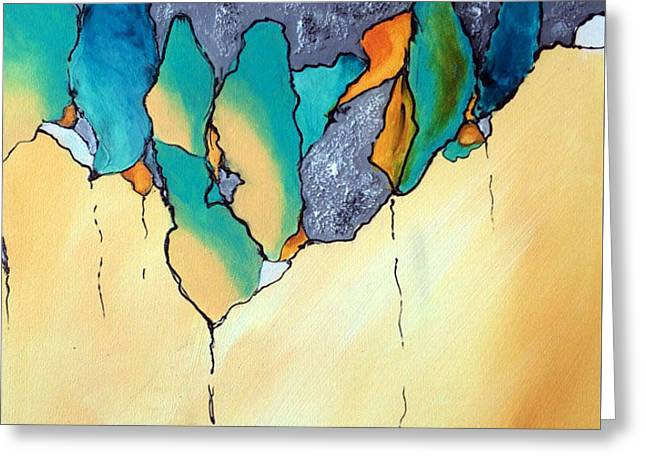 Biological Abstract I Greeting Card by Victoria Johns