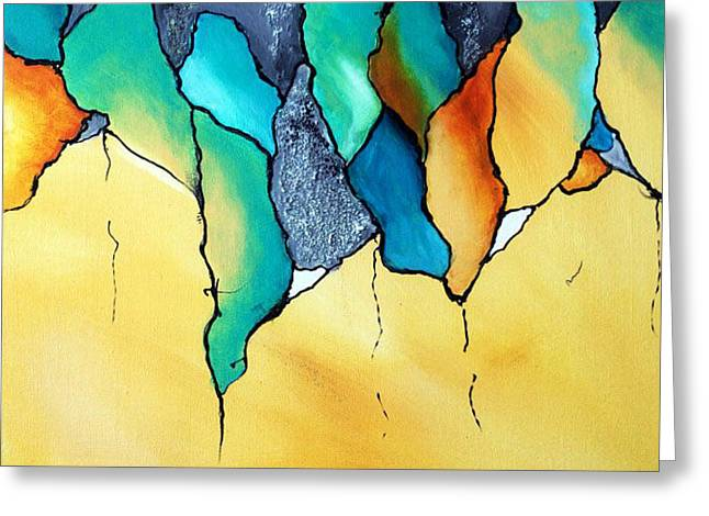 Biological Abstract Greeting Card by Victoria Johns