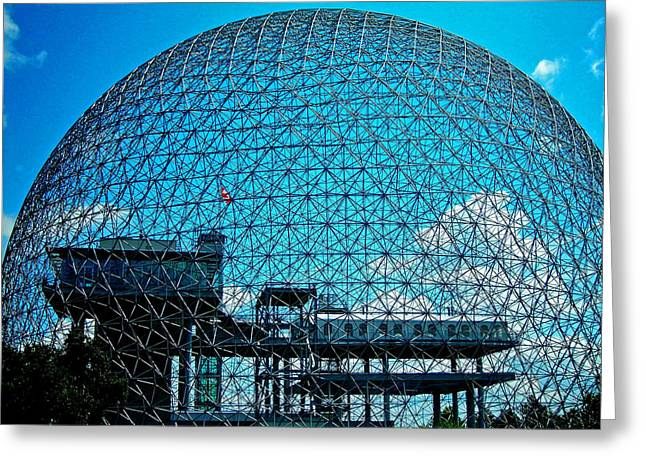 Biosphere Montreal Greeting Card by Juergen Weiss