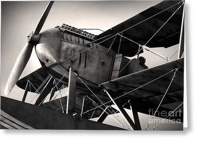 Biplane Greeting Card by Carlos Caetano