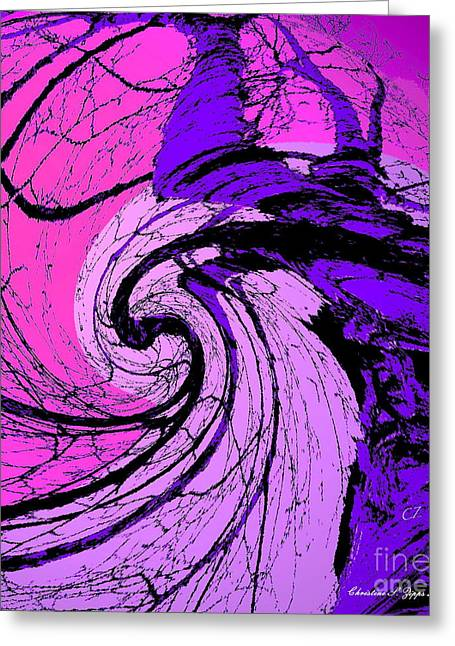 Birch - Purple And Pink Greeting Card