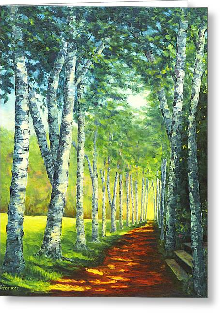 Birch Alee, St. Gaudens National Historic Site, Nh Greeting Card