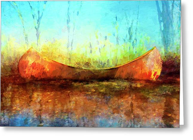 Birch Bark Canoe Greeting Card