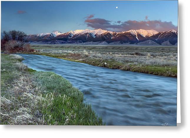 Birch Creek Greeting Card by Leland D Howard
