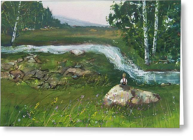 Birch Creek Greeting Card