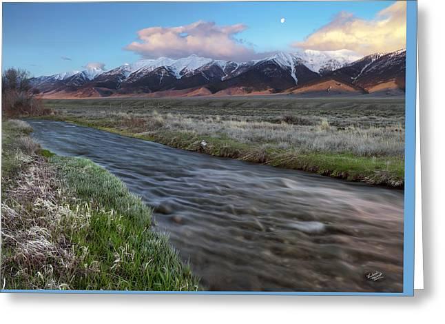 Birch Creek Sunrise Greeting Card by Leland D Howard