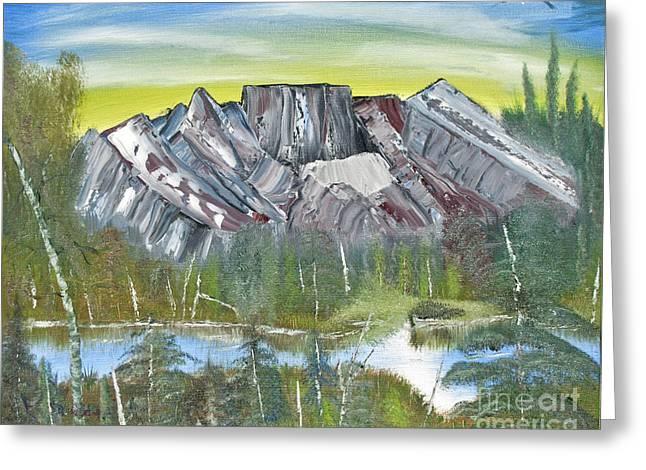 Birch Mountains Greeting Card