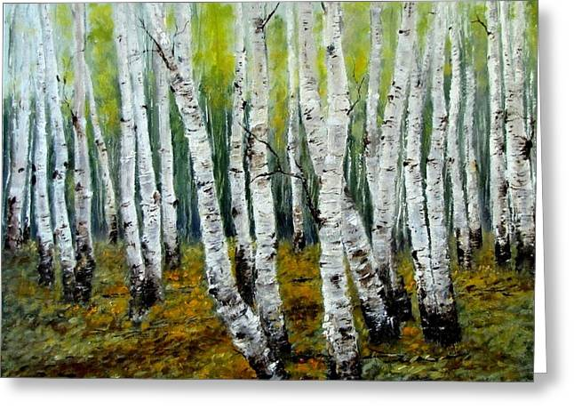 Birch Trail Greeting Card