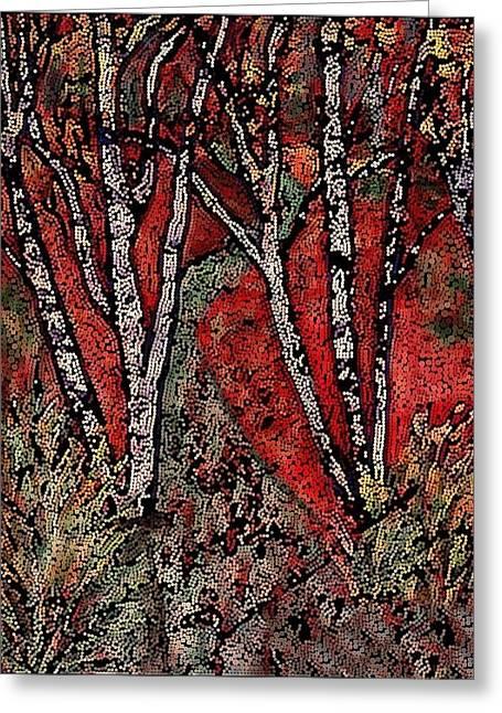 Birch Tree Mosaic Greeting Card