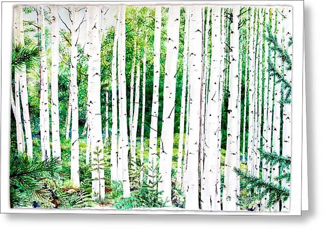 Birch Trees Greeting Card