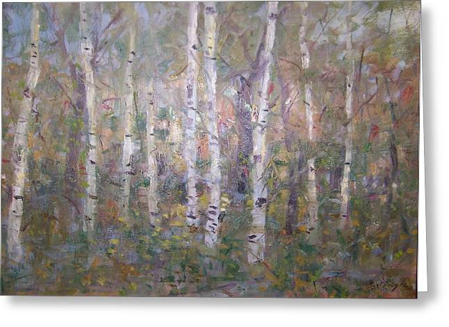 Birches. Greeting Card