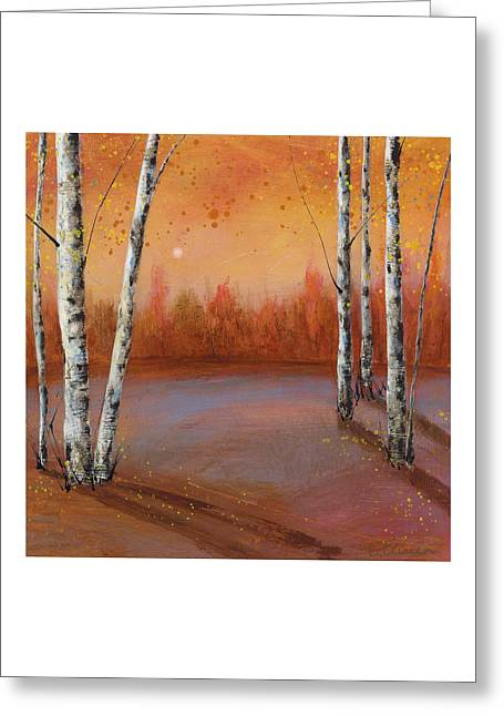 Birches In The Fall Greeting Card