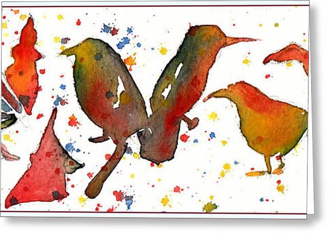 Bird Bash Greeting Card by Mindy Newman