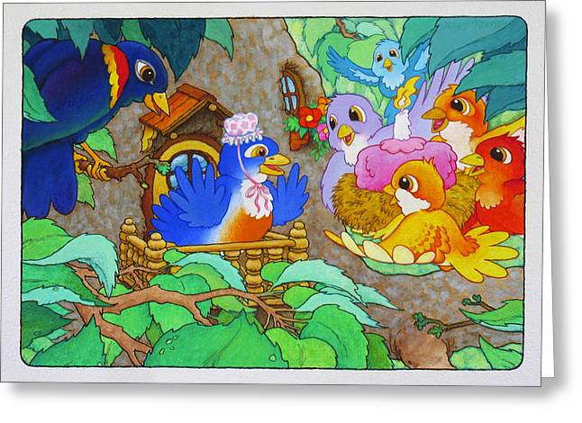 Bird-day Greeting Card by Terry Anderson