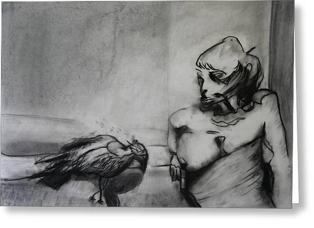 Bird Drama Greeting Card by Brad Wilson
