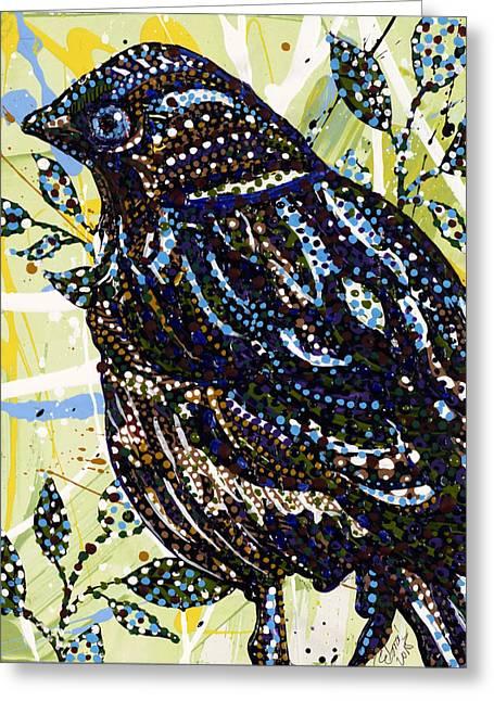 Bird Greeting Card by Erika Pochybova